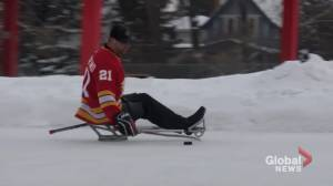 COVID-19: Para-hockey athletes push for provincial exemption to return to ice (01:48)