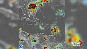 Weather maps show Hurricane Humberto headed for Bermuda
