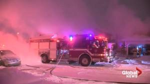 Crews battle southeast Edmonton house fire