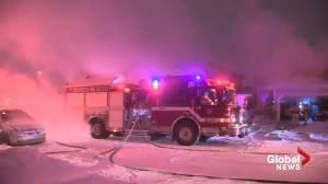 Crews battle southeast Edmonton house fire