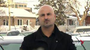 Business in Laval calls foul after entrance blocked with 'wall of snow' (01:43)