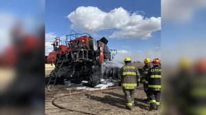 Combine fire not discouraging family farming duo