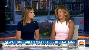'The Today Show' hosts comment on latest rape allegations against former host Matt Lauer
