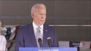 Coronavirus outbreak: Joe Biden says Ohio governor asked campaign to cancel rally (00:34)