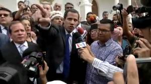 Juan Guaido enters legislative palace after tense standoff