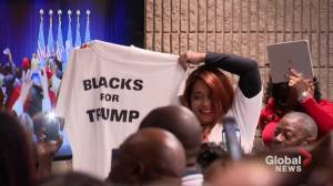 Trump courts black voters, touts historic unemployment numbers