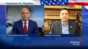 U.S. states file Keystone XL lawsuit against President Biden (04:42)