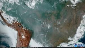 NASA releases satellite images of smoke from wildfires in Amazon Rainforest