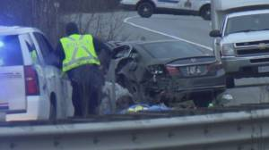 Third person dies after Highway 1 crash in Chilliwack (00:37)
