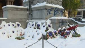 Officials 'disgusted' as Toronto cenotaph defaced