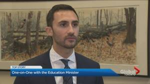 One-on-one with Ontario Education Minister Stephen Lecce