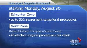 Surgeries delayed in Edmonton, Grande Prairie to add hospital space for COVID-19 patients (01:53)