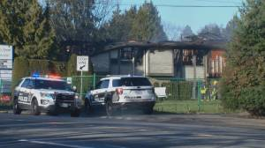 Fire guts Tsawwassen building on New Year's Day