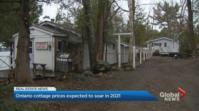 Click to play video: Ontario cottage prices expected to soar in 2021