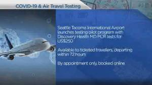 New COVID-19 tests offered to U.S. travellers (03:40)