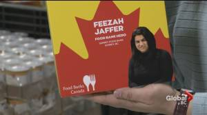 Surrey Food Bank boss honoured with special cereal box cover (01:00)