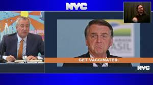 'Don't bother coming': NY mayor to unvaccinated Brazilian president (00:48)