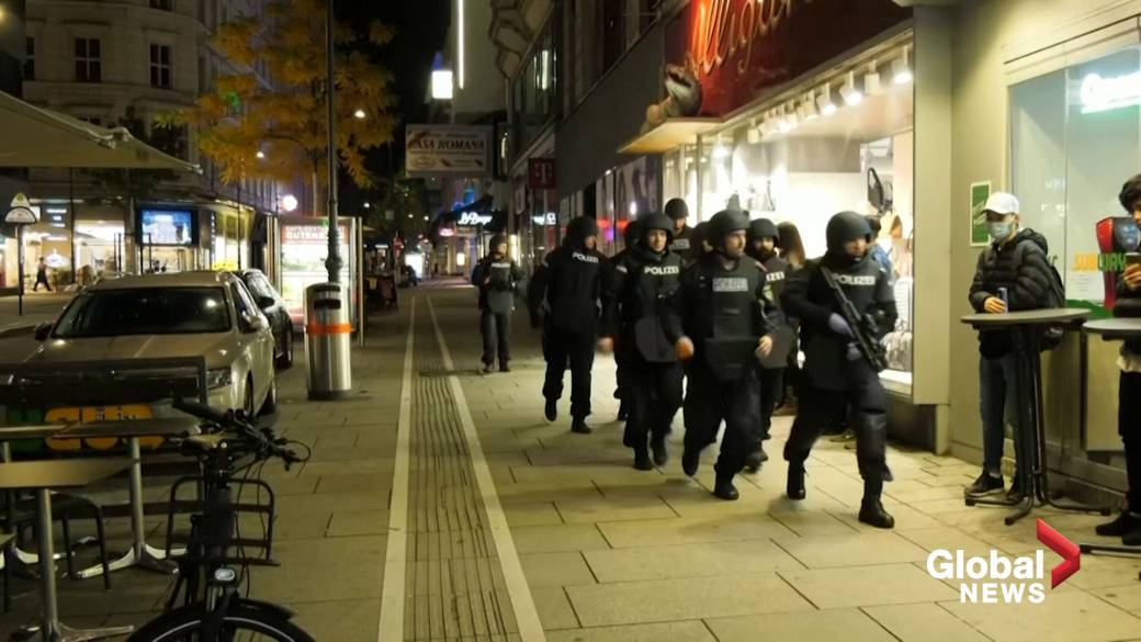 Click to play video 'Emergency crews respond to scene of alleged shooting in Vienna'