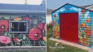Local artist brightening Edmonton with mural masterpieces (01:45)