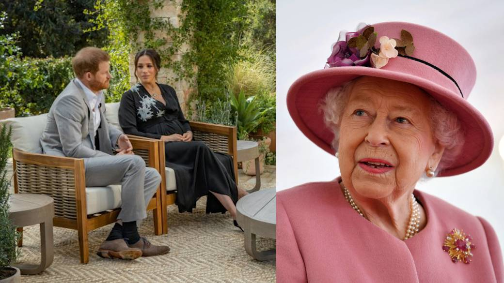 Click to play video 'The Queen reacts to Meghan and Harry interview, says issues raised including race 'concerning''