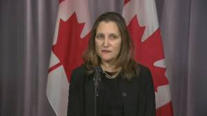 Freeland stresses Canada will follow 'rule of law' in Meng Wanzhou case