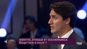 """Leaders' Debate: Trudeau says he would """"relax"""" assisted dying law in next 6 months"""