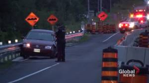 Peterborough police seek suspect after flight from traffic stop and collision on County Road 28 in Bailieboro (00:36)