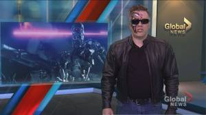 Global Sports Anchor Rob Leth dresses up as The Terminator