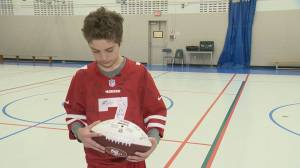 Regina boy's wish granted, meets the San Francisco 49ers