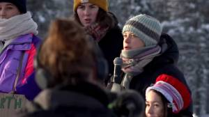 Thunberg heads to protest in Arctic Lapland