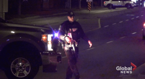 Heavy police presence on Chemong Rd. in Peterborough (01:03)