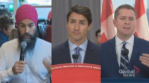 Federal party leaders campaign in battleground regions Toronto and Vancouver