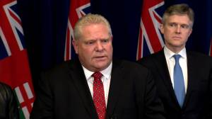 Coronavirus outbreak: Doug Ford warms of consequences of closing U.S. / Canada border (02:04)