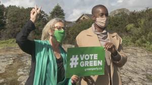 Green Leader Annamie Paul makes 1st stop in B.C. as clock winds down on election (02:04)