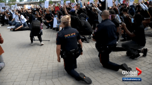 Hundreds of Calgarians rally in Black Lives Matters protest