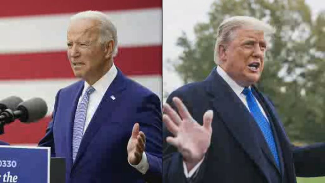 Click to play video 'Trump and Biden campaign in swing states as election day nears'