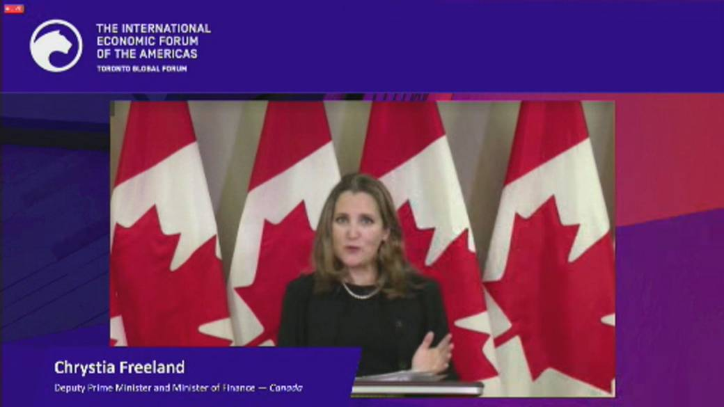 Click to play video 'Coronavirus: Freeland stresses Canada can afford COVID-19 assistance'