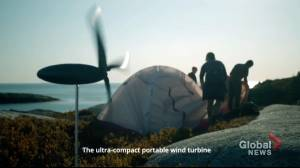 New mini-turbine will help campers stay charged in the great outdoors (01:48)