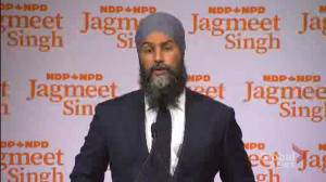 Canada election: 'Cynicism' is biggest problem facing NDP, Singh says (00:52)