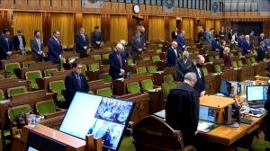 Moment of silence held in House of Commons for fallen OPP officer (02:38)