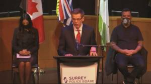 Surrey hires first police chief for new municipal police force (00:57)