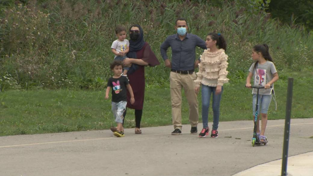 Click to play video: 'Family opens up about escape from Afghanistan'