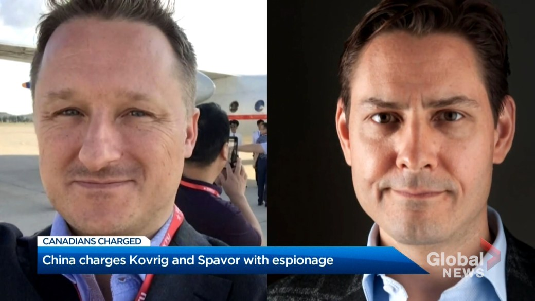 Click to play video 'China charges Canadians Michael Kovrig and Michael Spavor with alleged espionage'