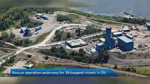 Rescue underway for 39 trapped miners at Vale's Totten mine in Sudbury (00:26)