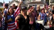 Play video: Trump visits Newport Beach for private fundraiser