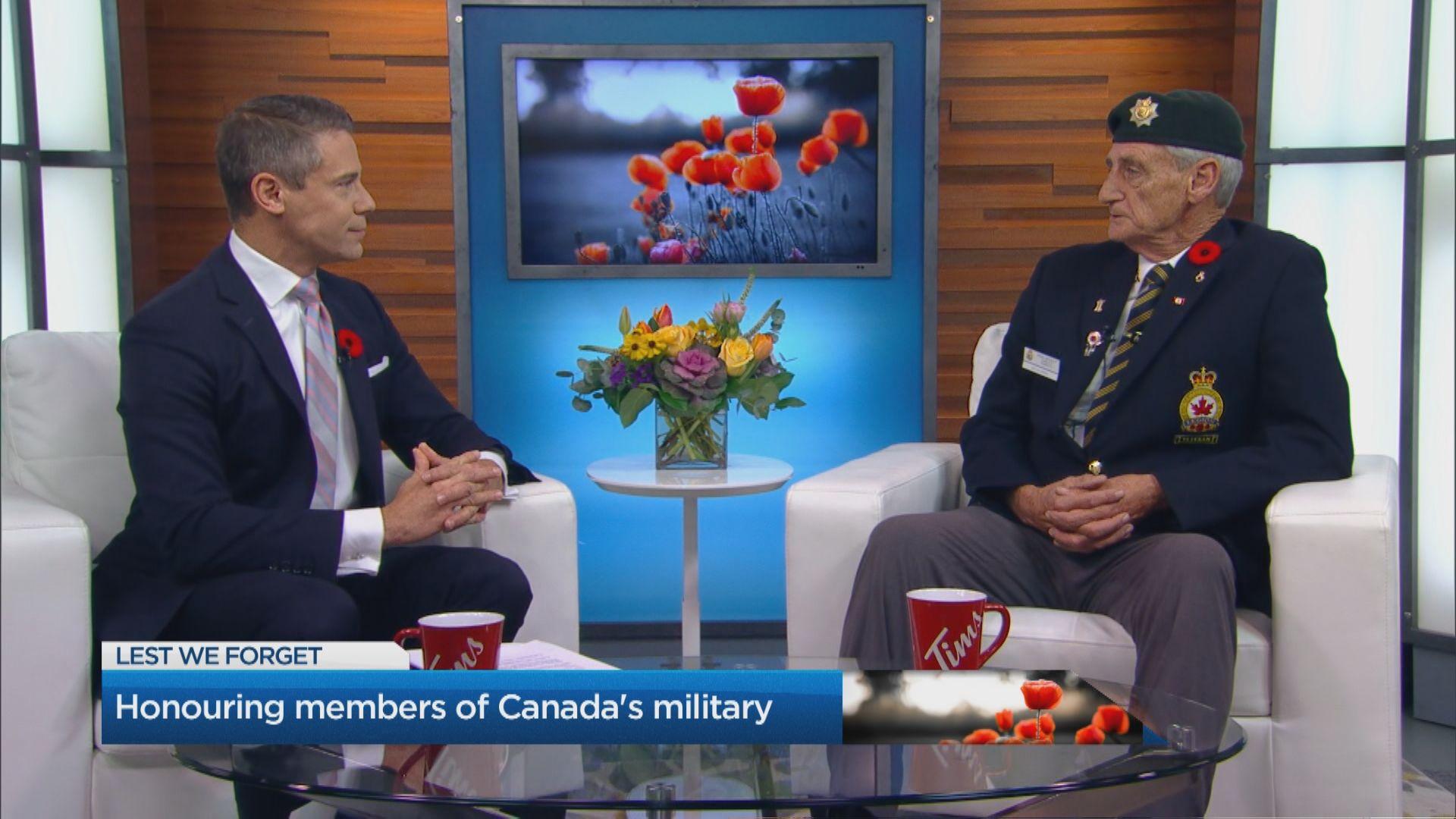 Honouring members of Canada's military
