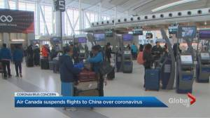 Air Canada flight from China lands at Toronto Pearson International Airport