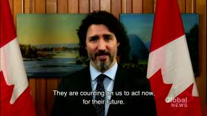 Trudeau underscores importance of environment for next generation at climate summit (01:57)