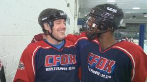 Michael Newman attempts first 'bad hockey' experience for CFOX campaign