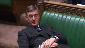 U.K. House of Commons leader lounges on parliament benches during key Brexit debate
